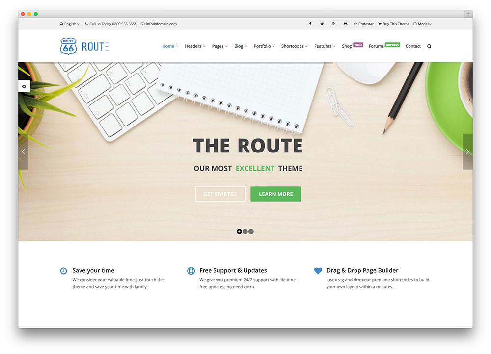 route multipurpose theme