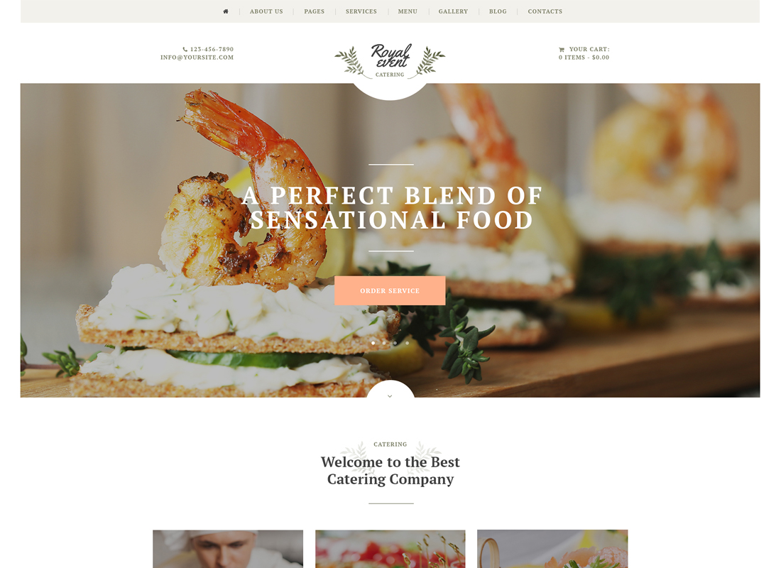 Royal Event - Event Planner & Catering Company WordPress Theme