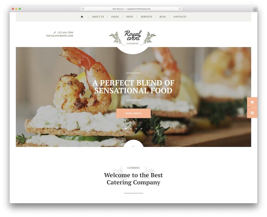 royal event planner wordpress theme