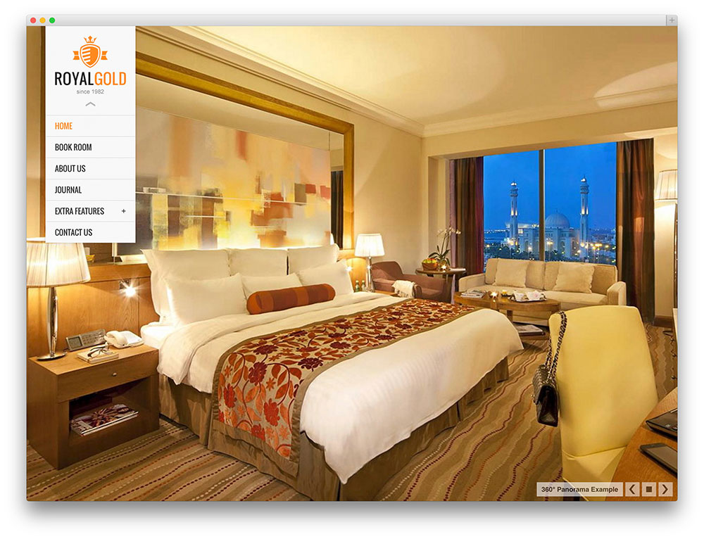royalgold WordPress hotel theme