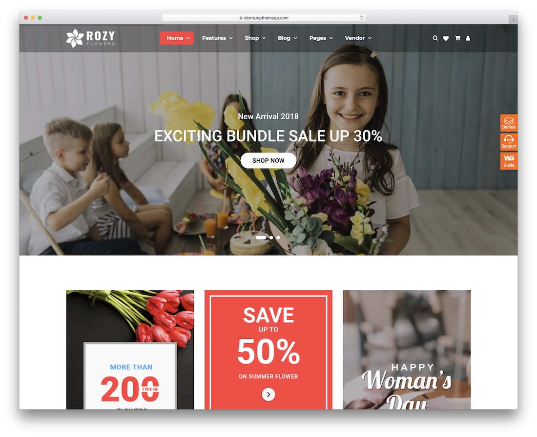 rozy flower website template
