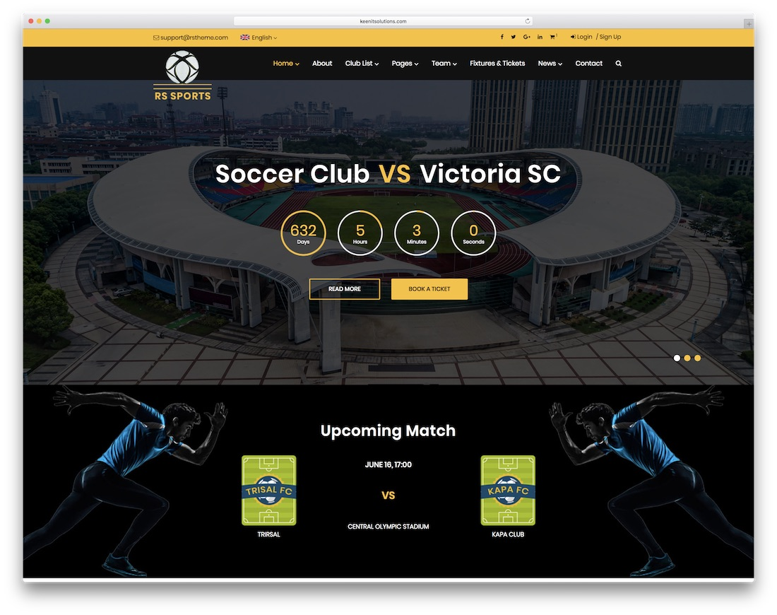 rs sports community website template