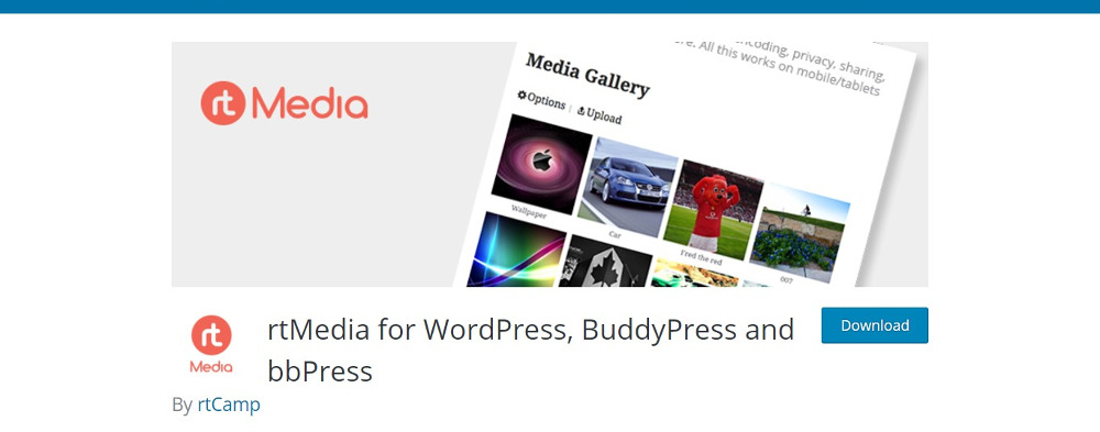 BuddyPress plugins - rtMedia