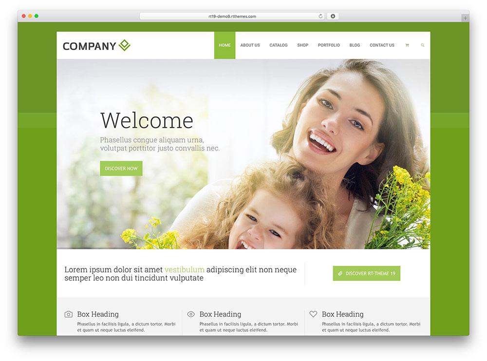rttheme 19 - green business theme