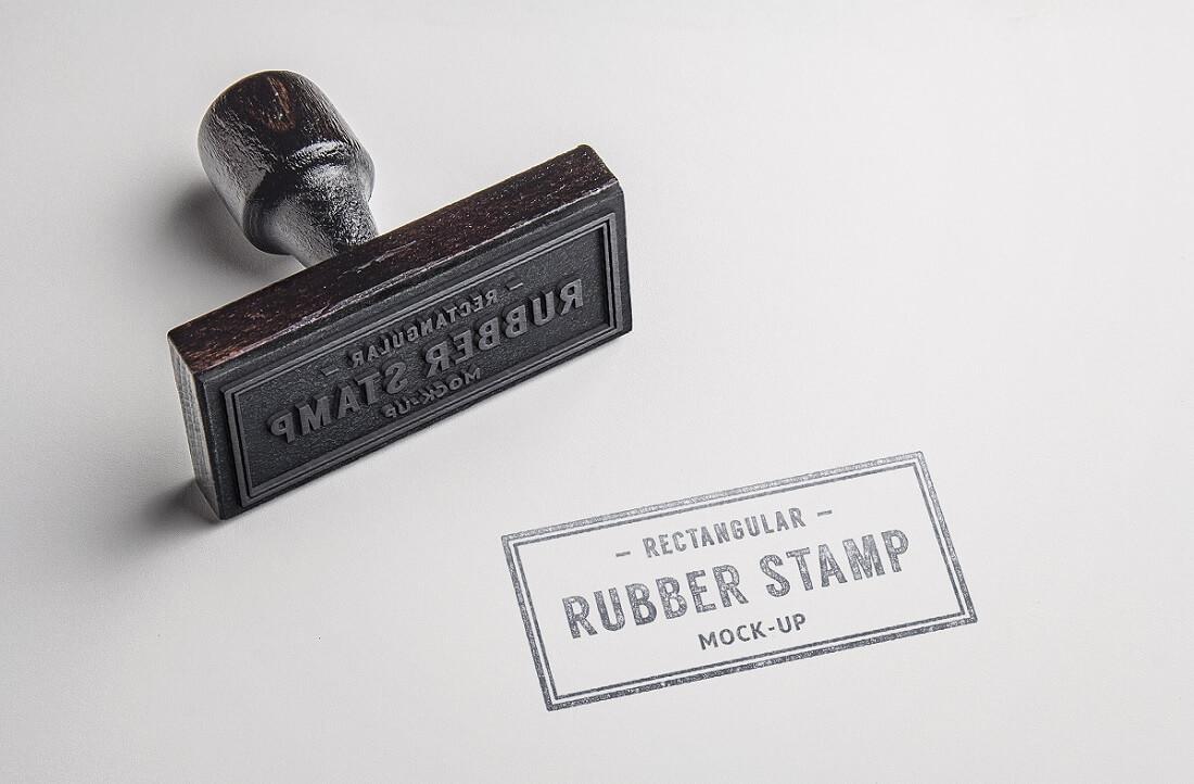 rubber stamp logo psd mockup