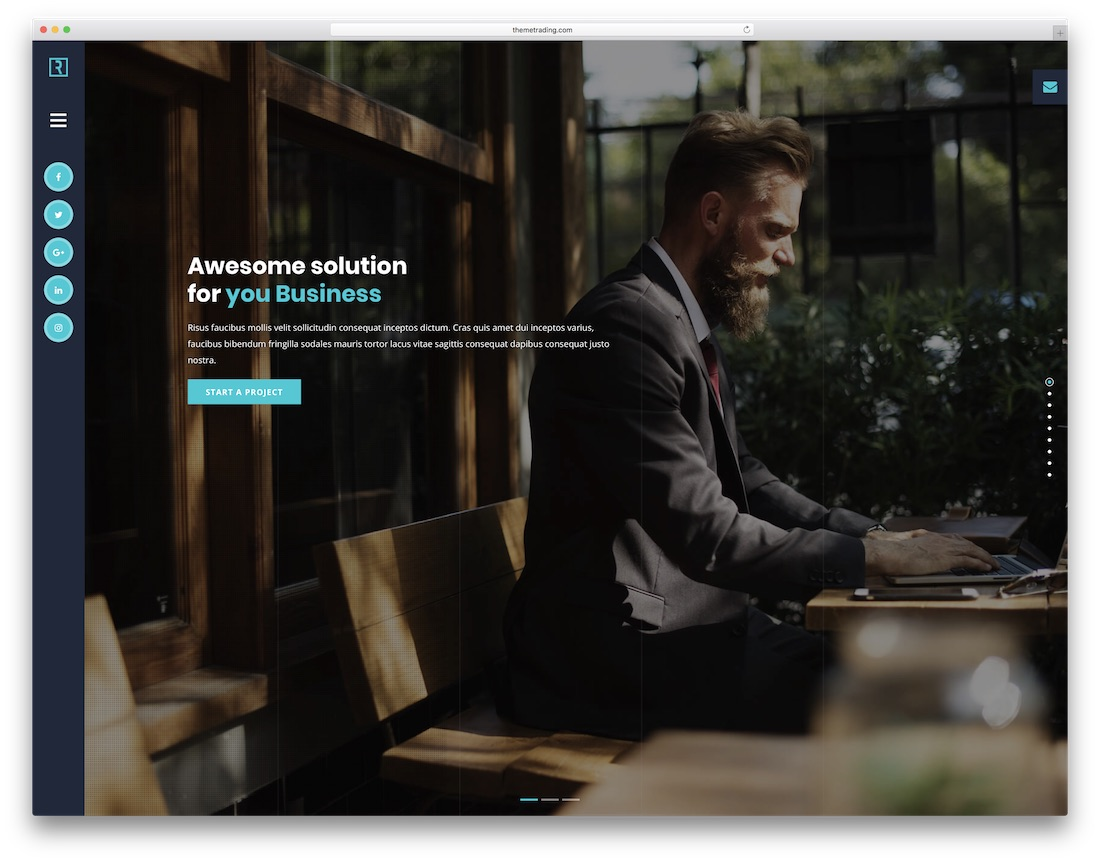 runaway personal website template