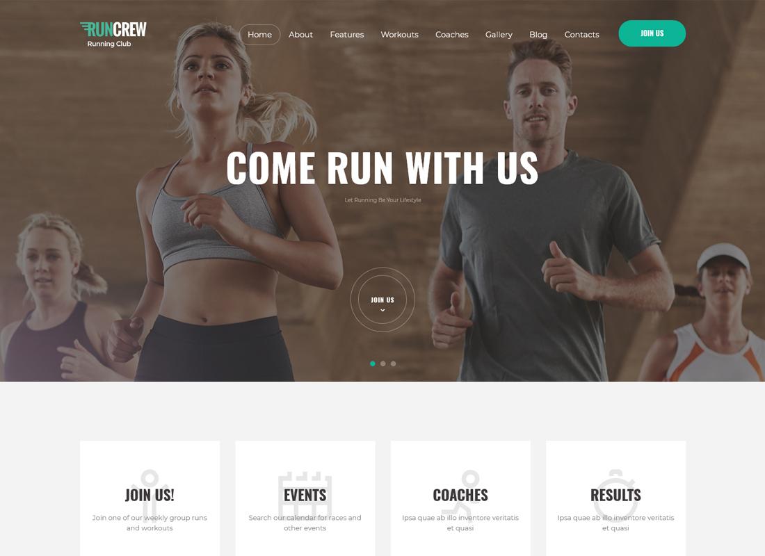 RunCrew - Running Club, Marathon & Sports WordPress Theme