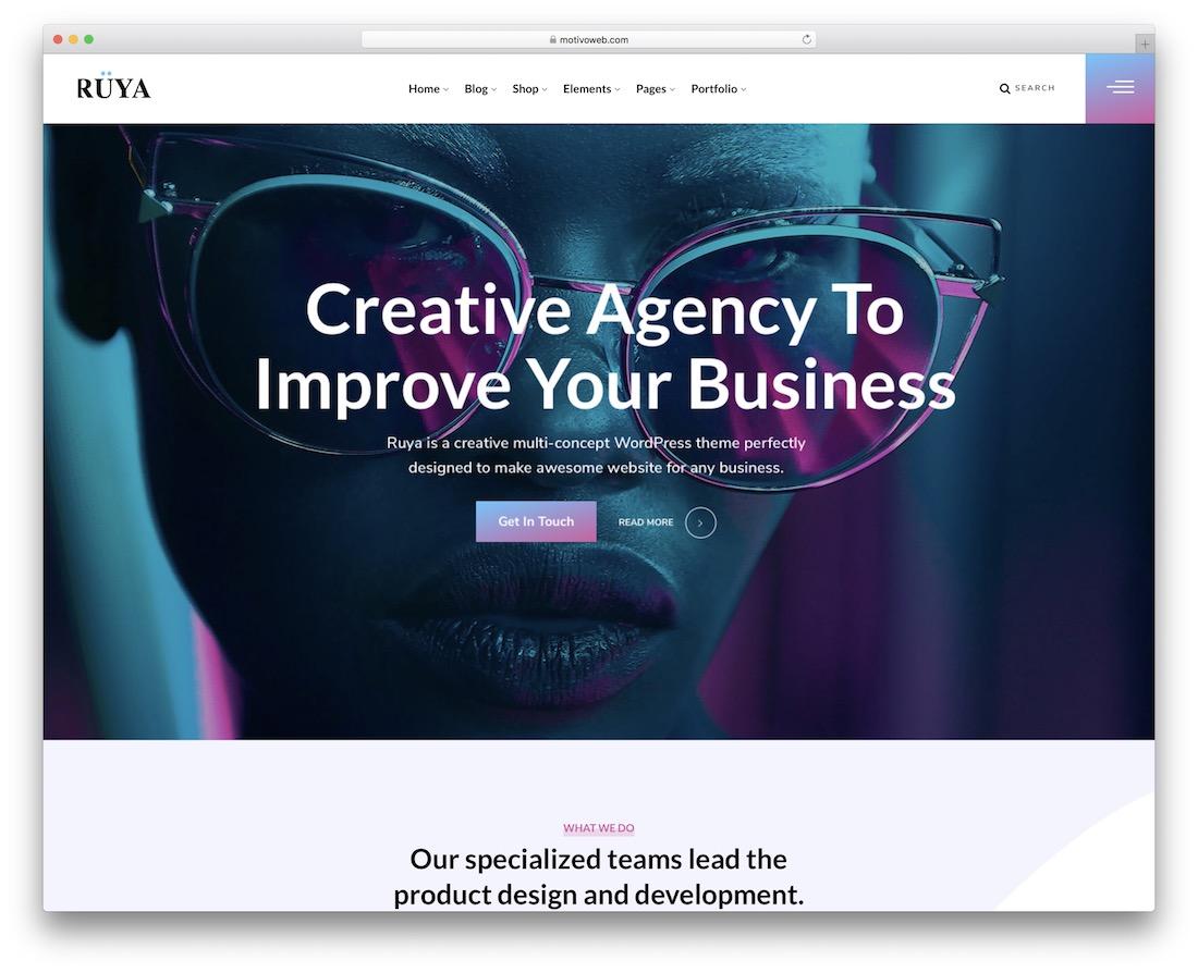 ruya seo friendly website template