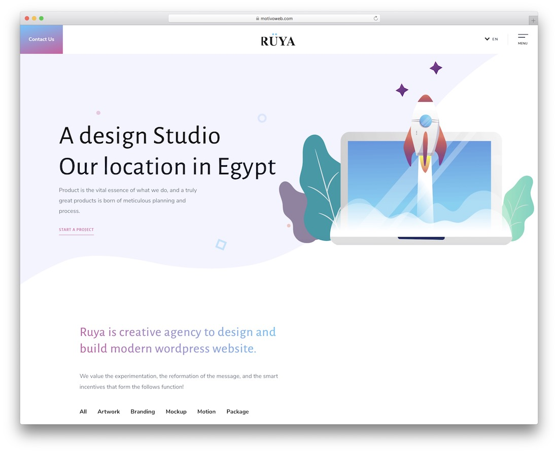 ruya simple bootstrap template