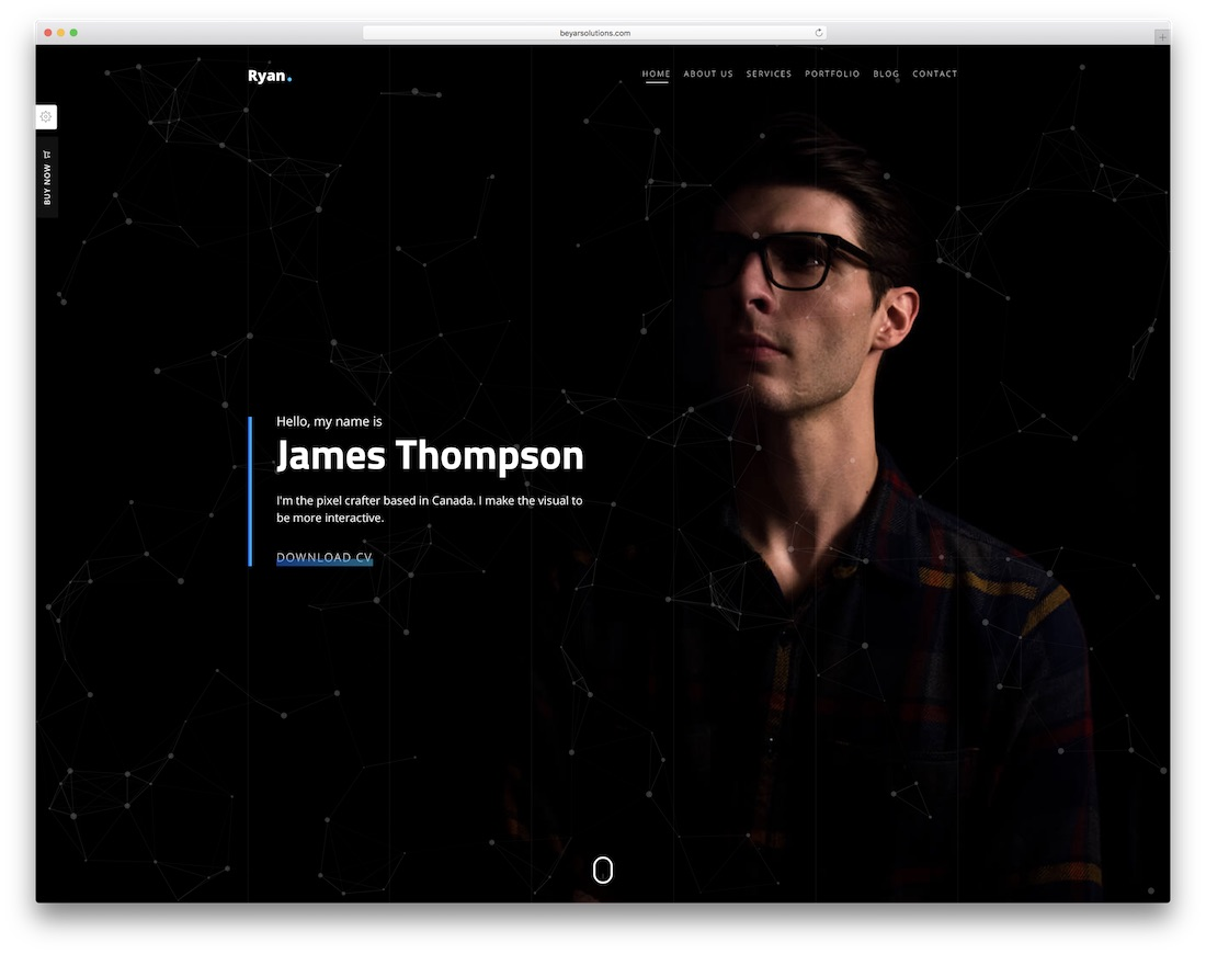 ryan bootstrap personal website template