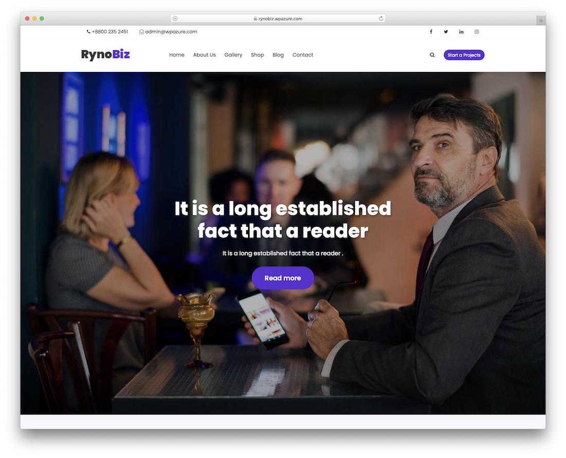 rynobiz free wordpress business theme