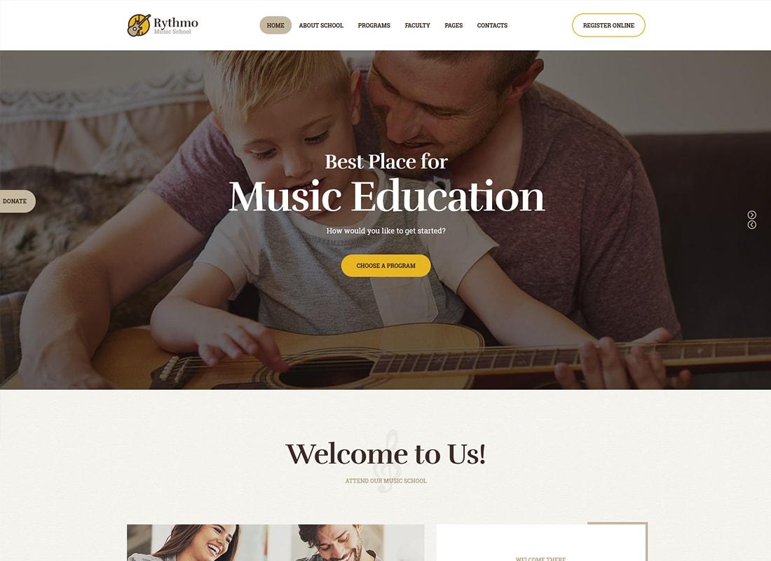 Rythmo | Music School WordPress Theme