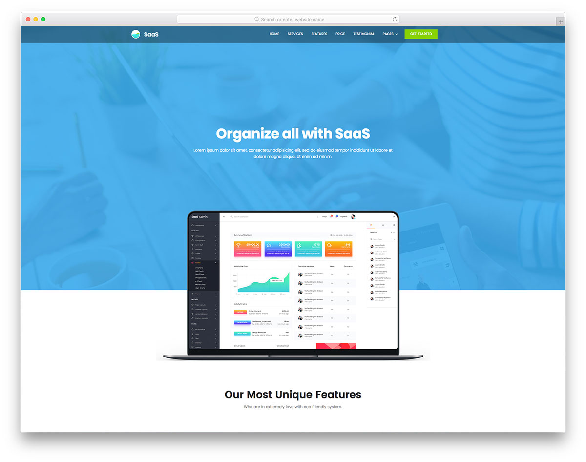 Saas landing page templates | software landing pages by unbounce.