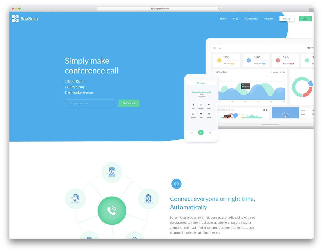 saasera technology website template