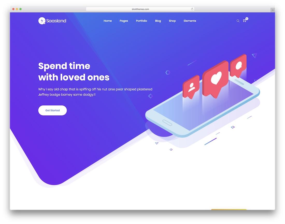saasland app showcase wordpress theme