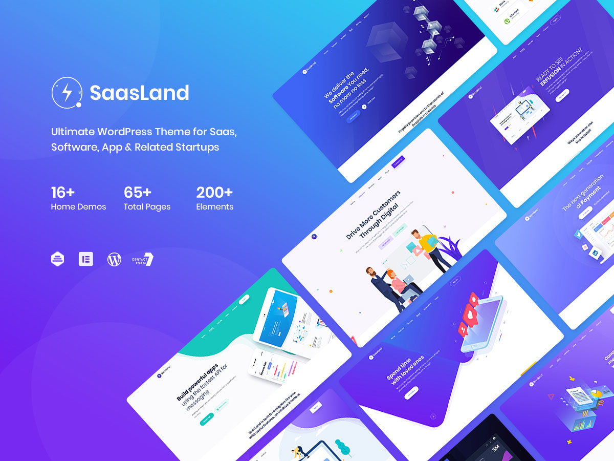 SaaS Landing page WordPress theme