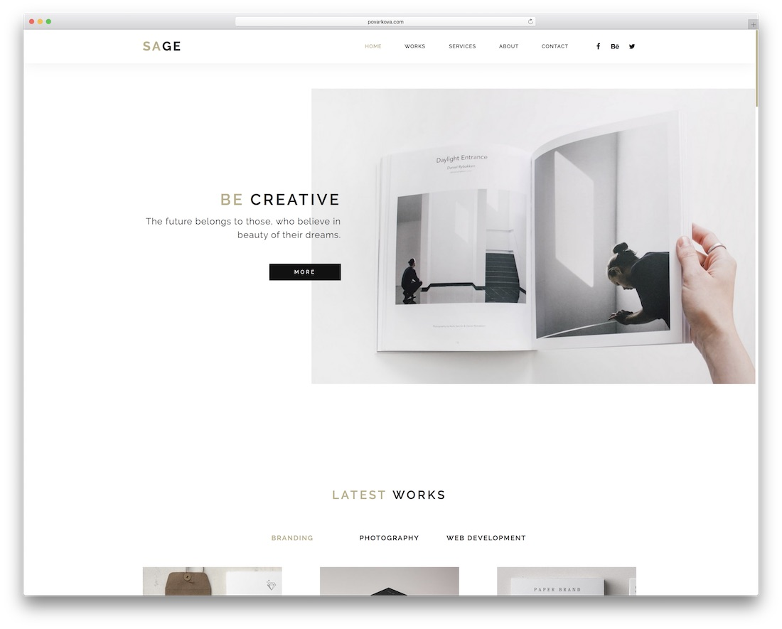 sage adobe muse template