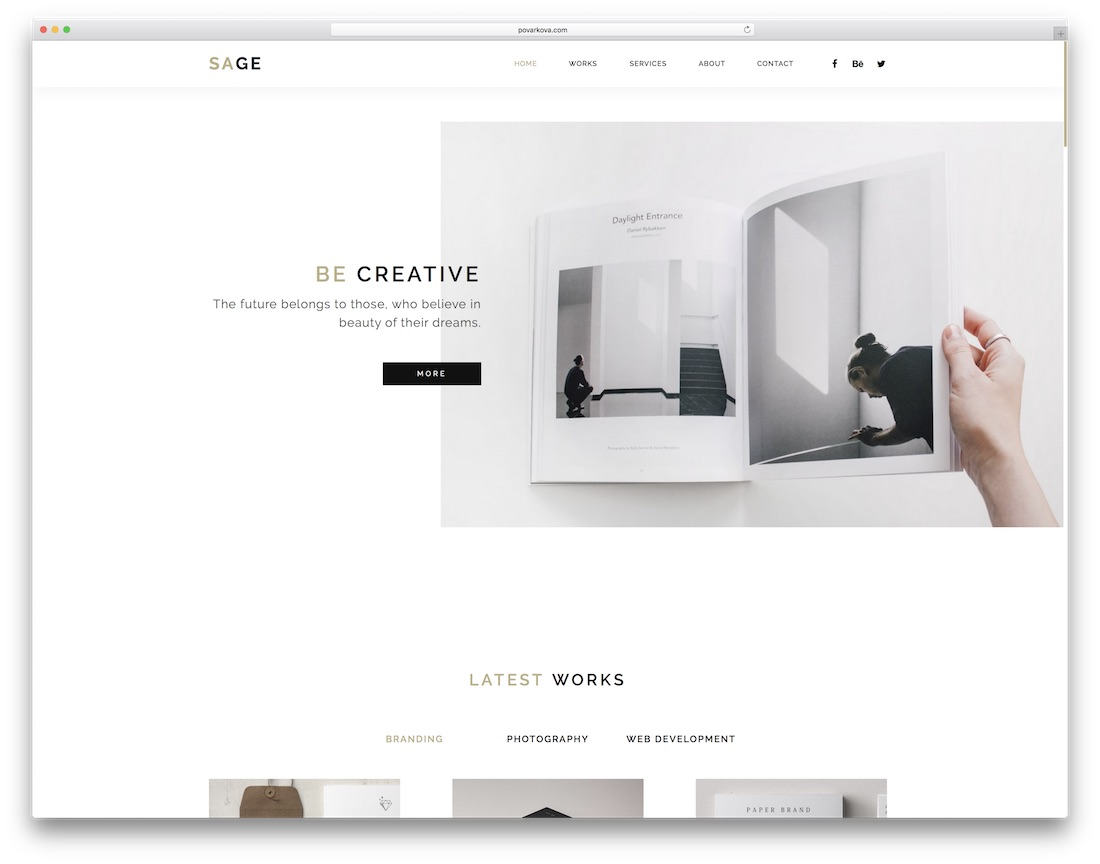 sage clean adobe muse template