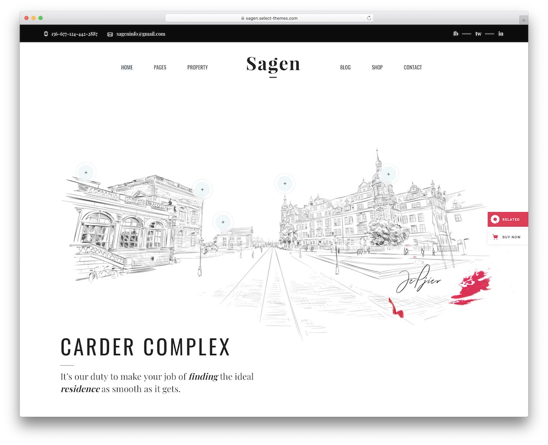 sagen single property wordpress theme