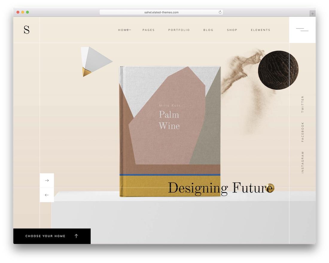 sahel wordpress themes for designers