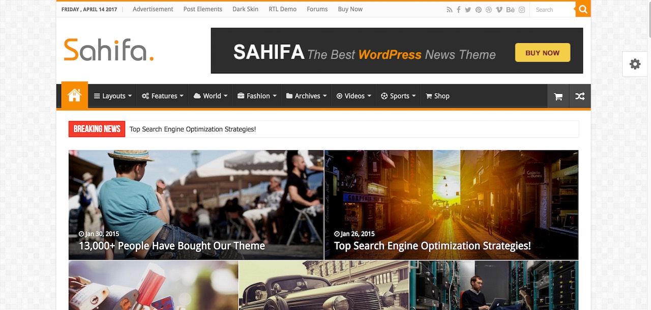 Sahifa - RTL WordPress theme