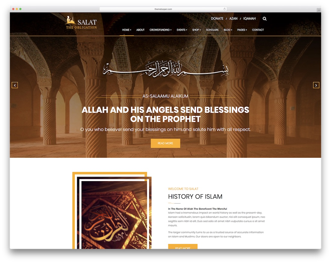 salat website template