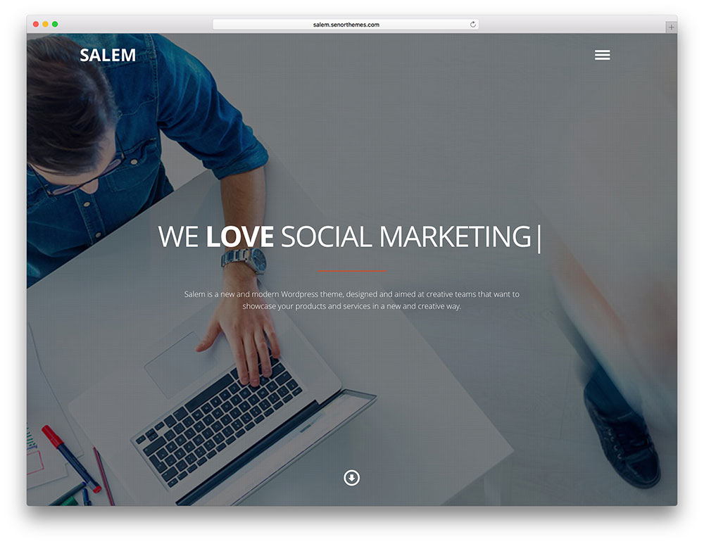 salem - social marketing company theme