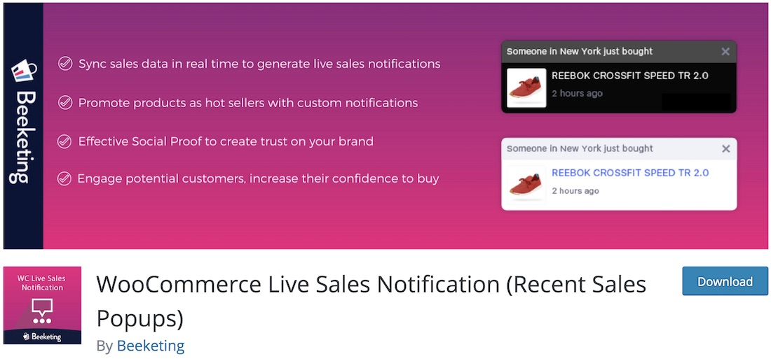 sales pop wordpress notification plugin