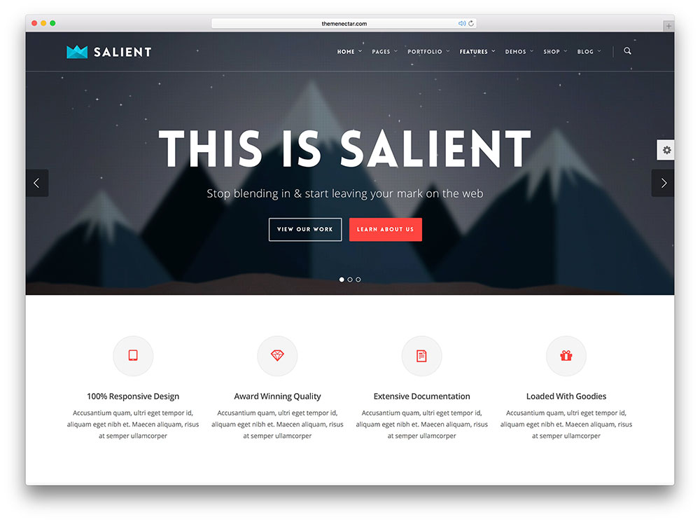 Salient Popular Theme For Static Sites
