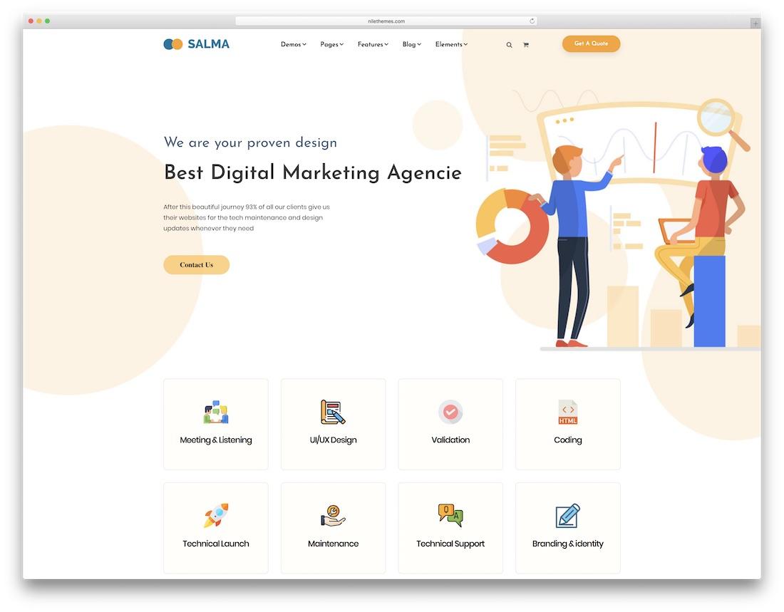 salma seo friendly website template