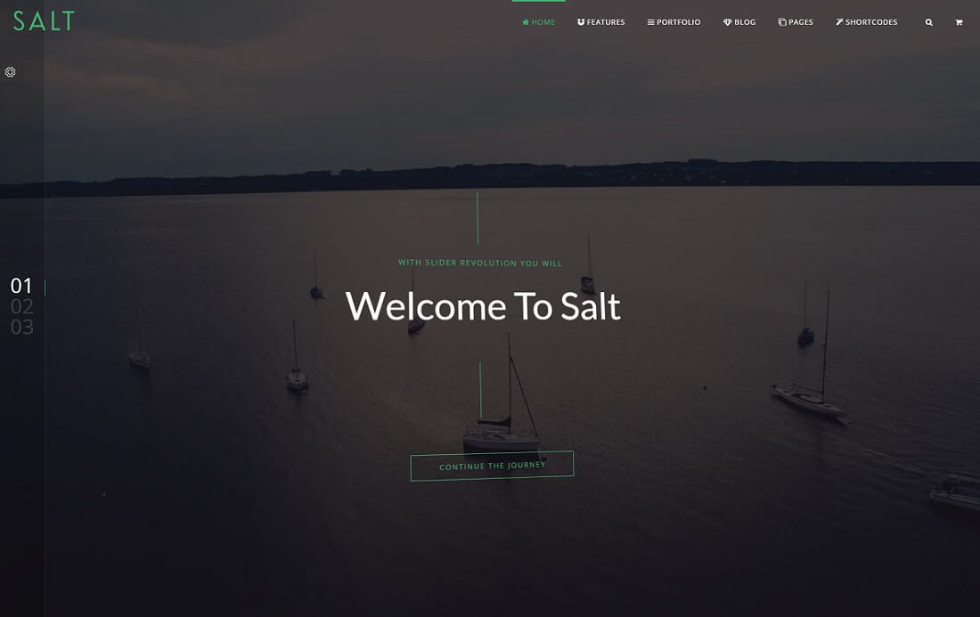salt bootstrap business website template