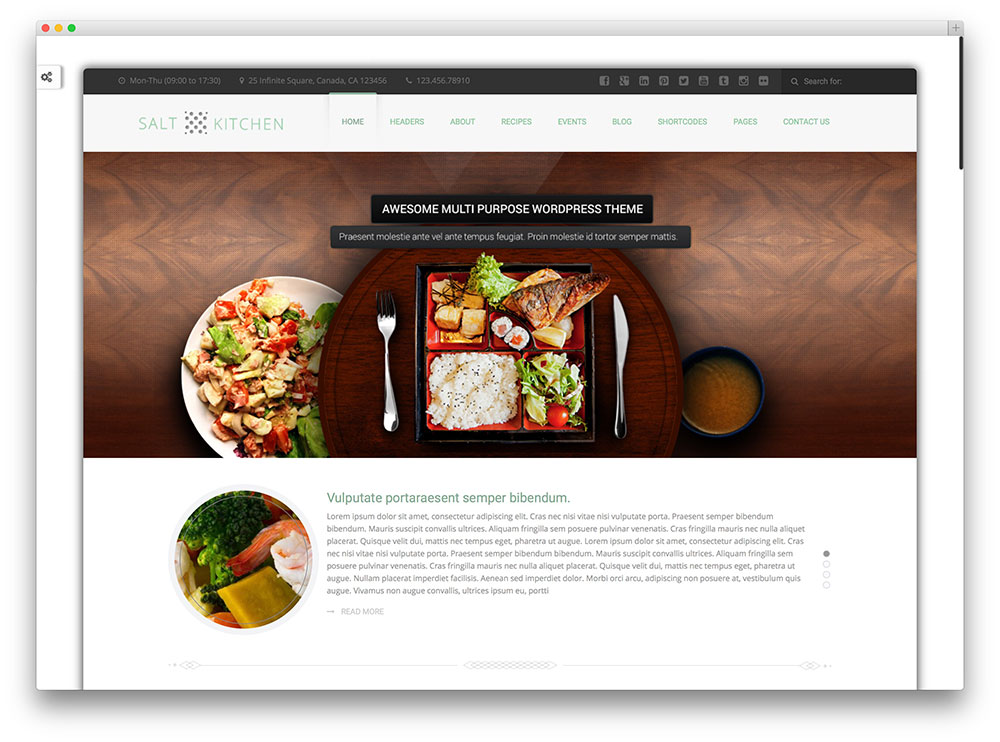 20 Awesome Food Wordpress Themes To Share Recipes 2016