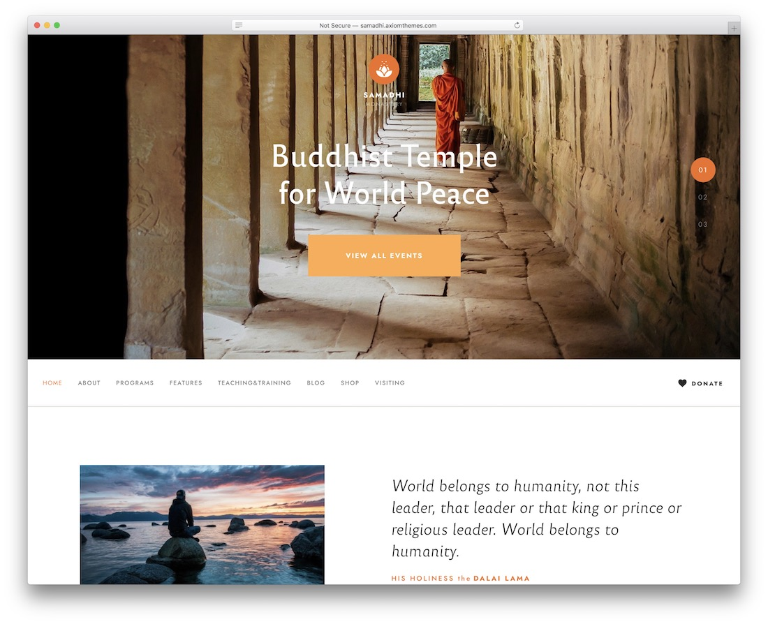 samadhi yoga wordpress theme