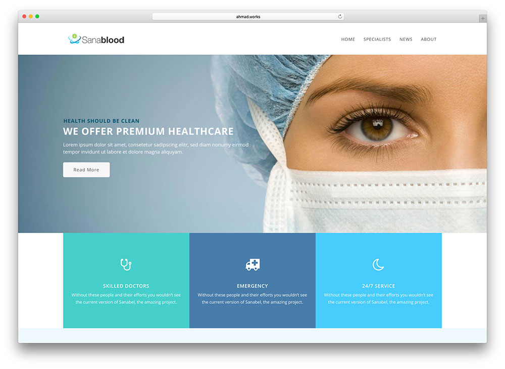 sanabel-flat-design-medical-wp-template