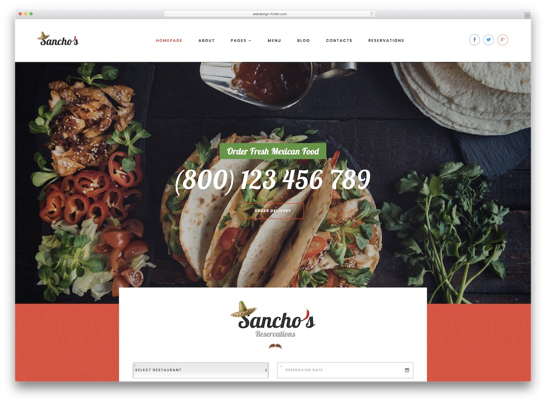sanchos catering wordpress theme