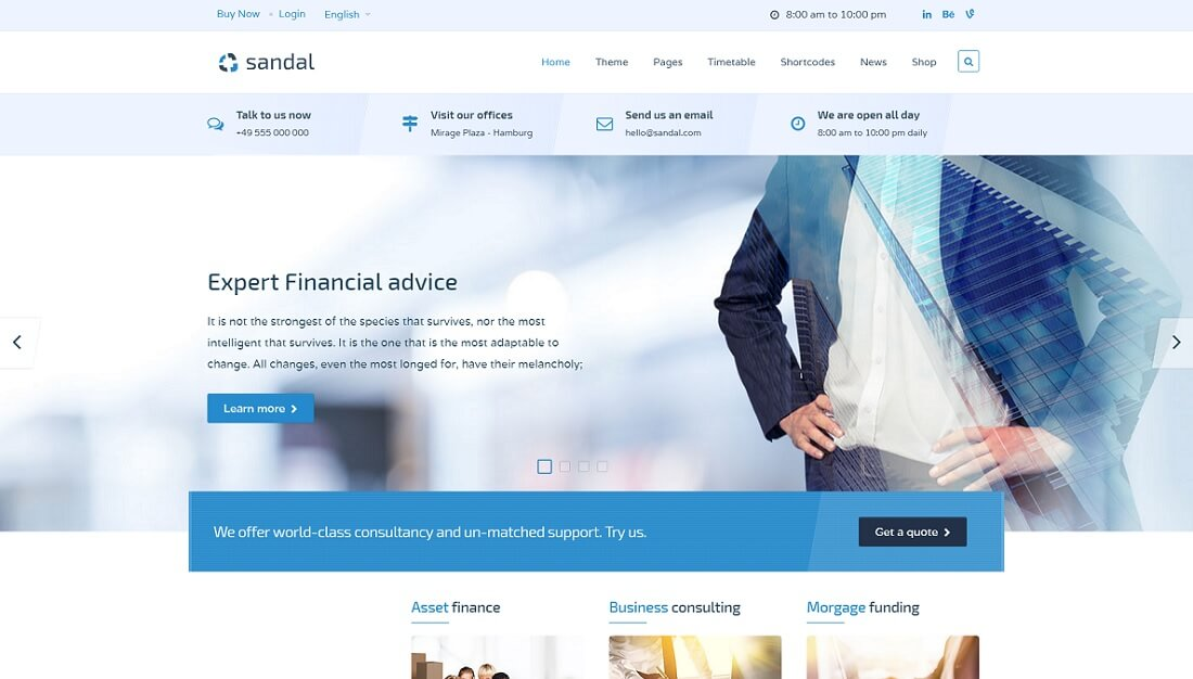 sandal joomla business template