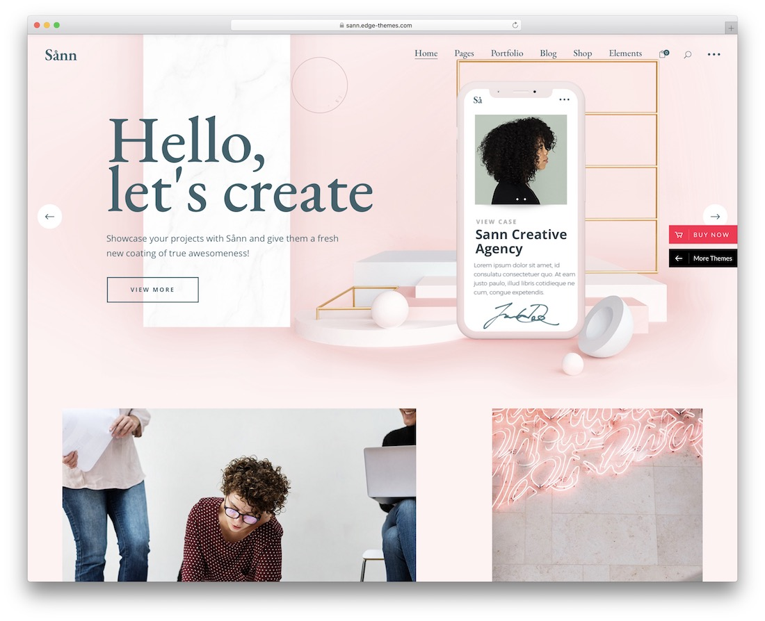 sann wordpress theme