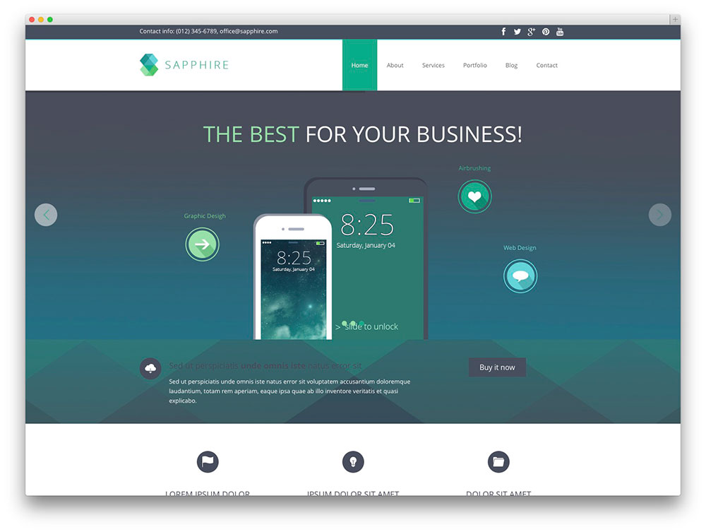 sapphire - IT company template