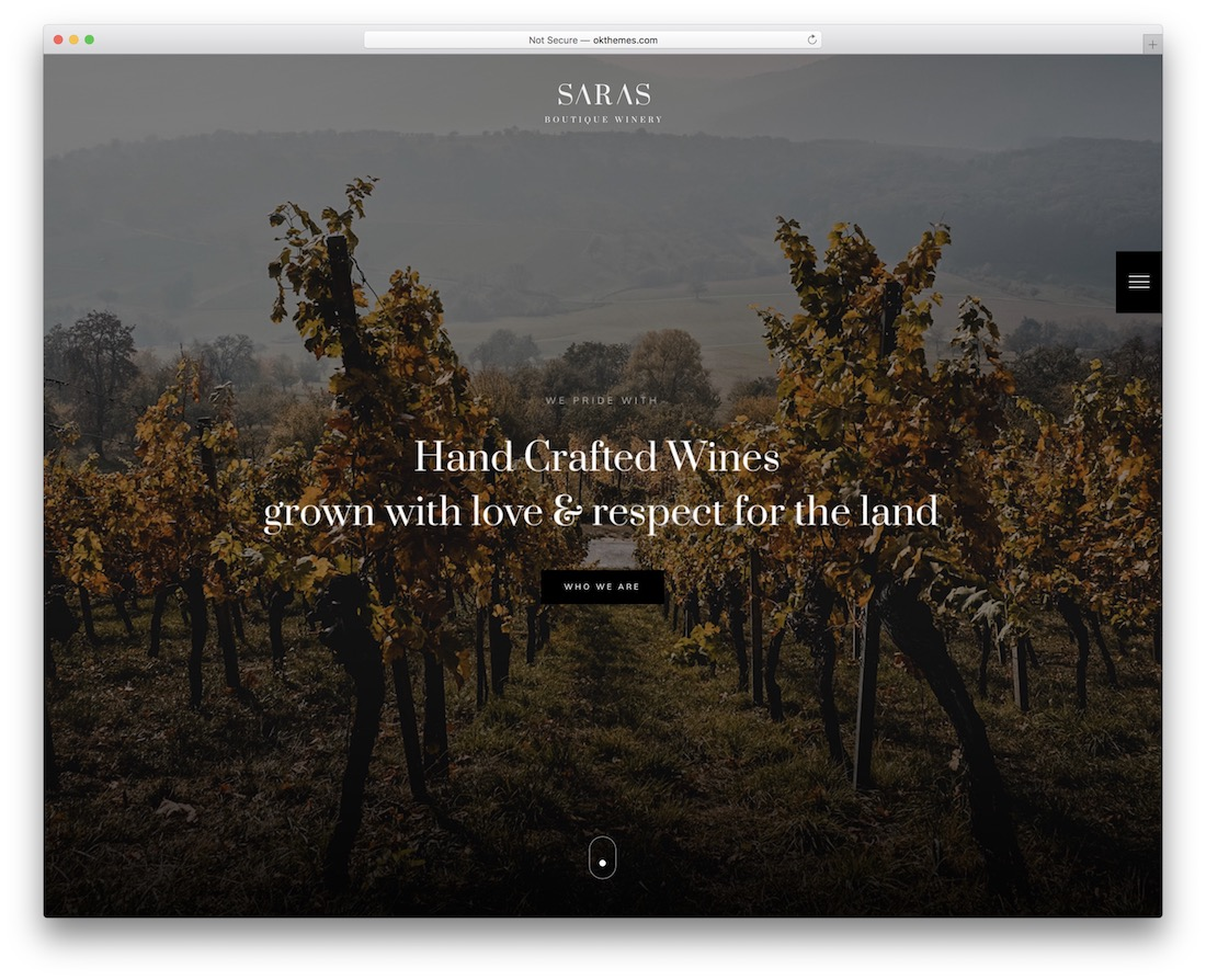 saras wine website template