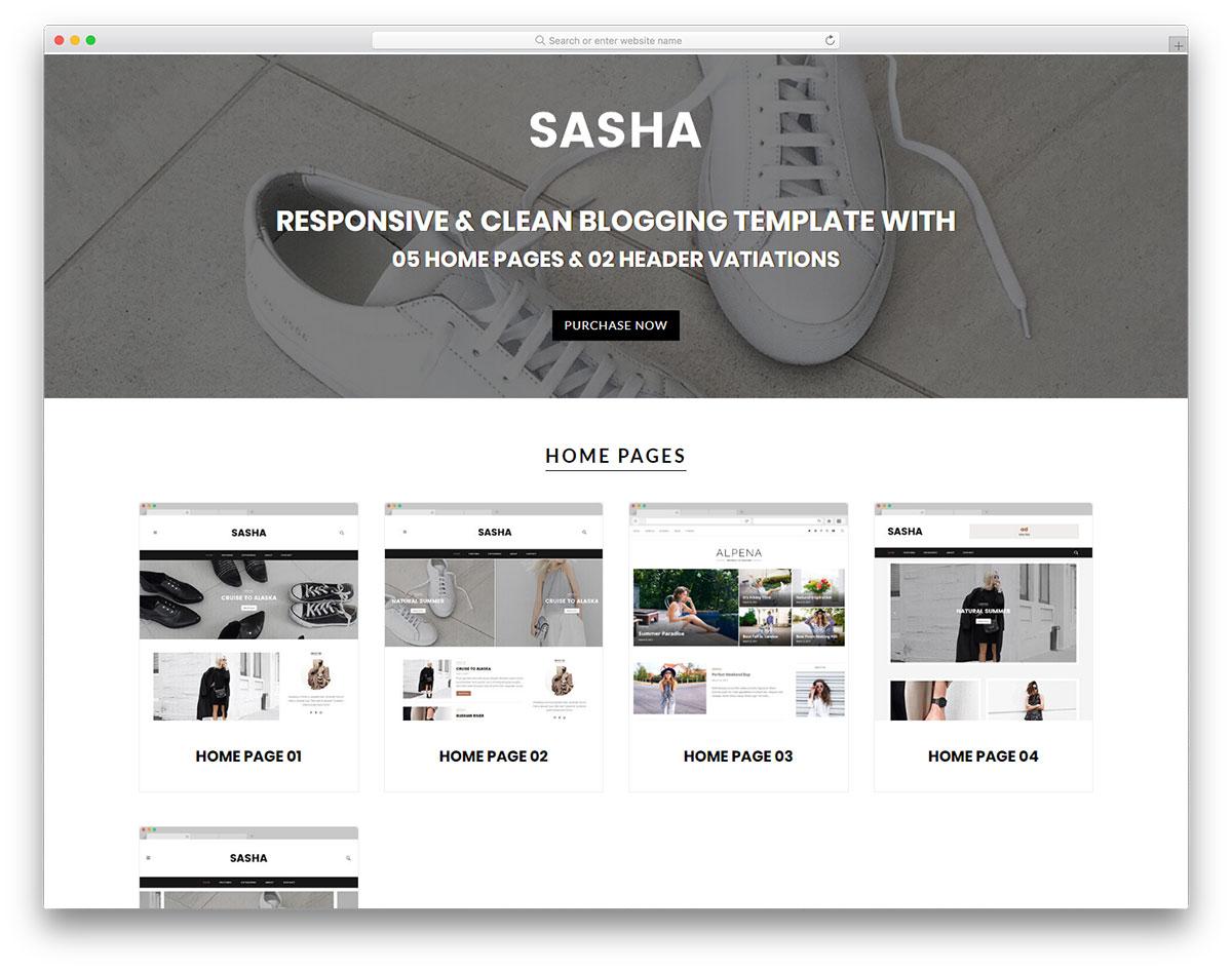 Скачать бесплатно html шаблон Sasha