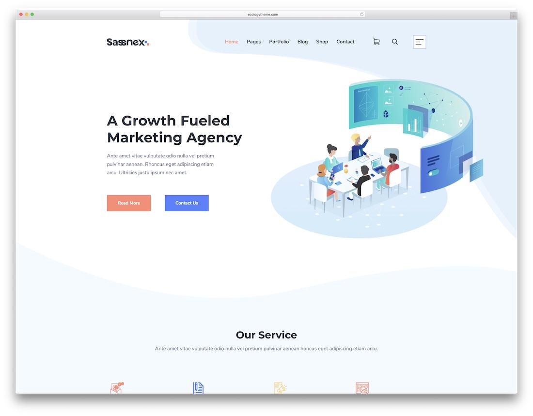 sassnex business website template
