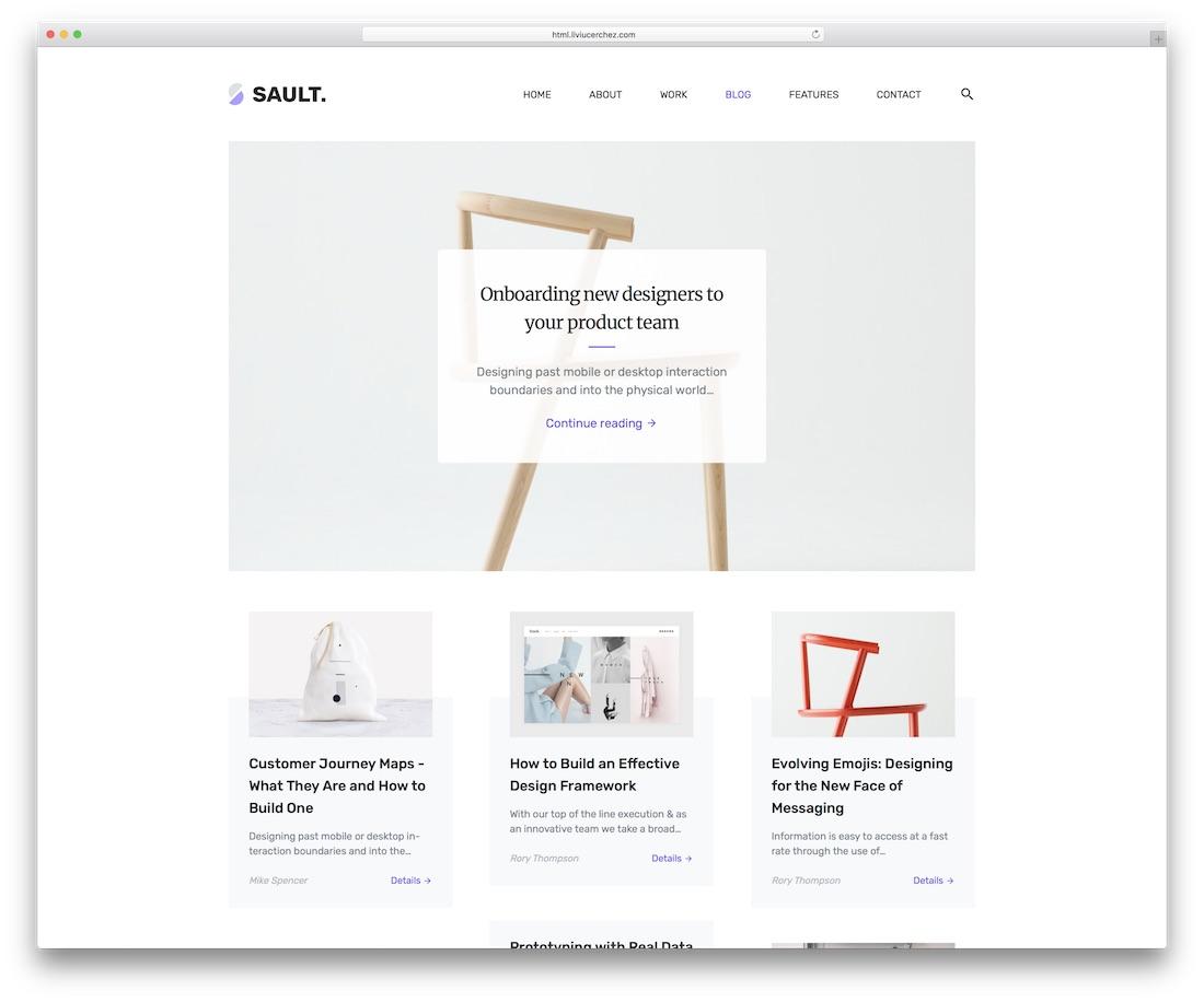 sault blog website template