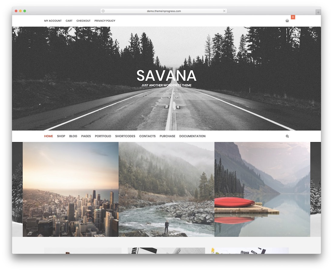 savana lite free responsive wordpress theme