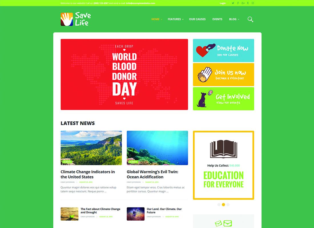 Save Life   Non-Profit, Charity & Donations WordPress Theme