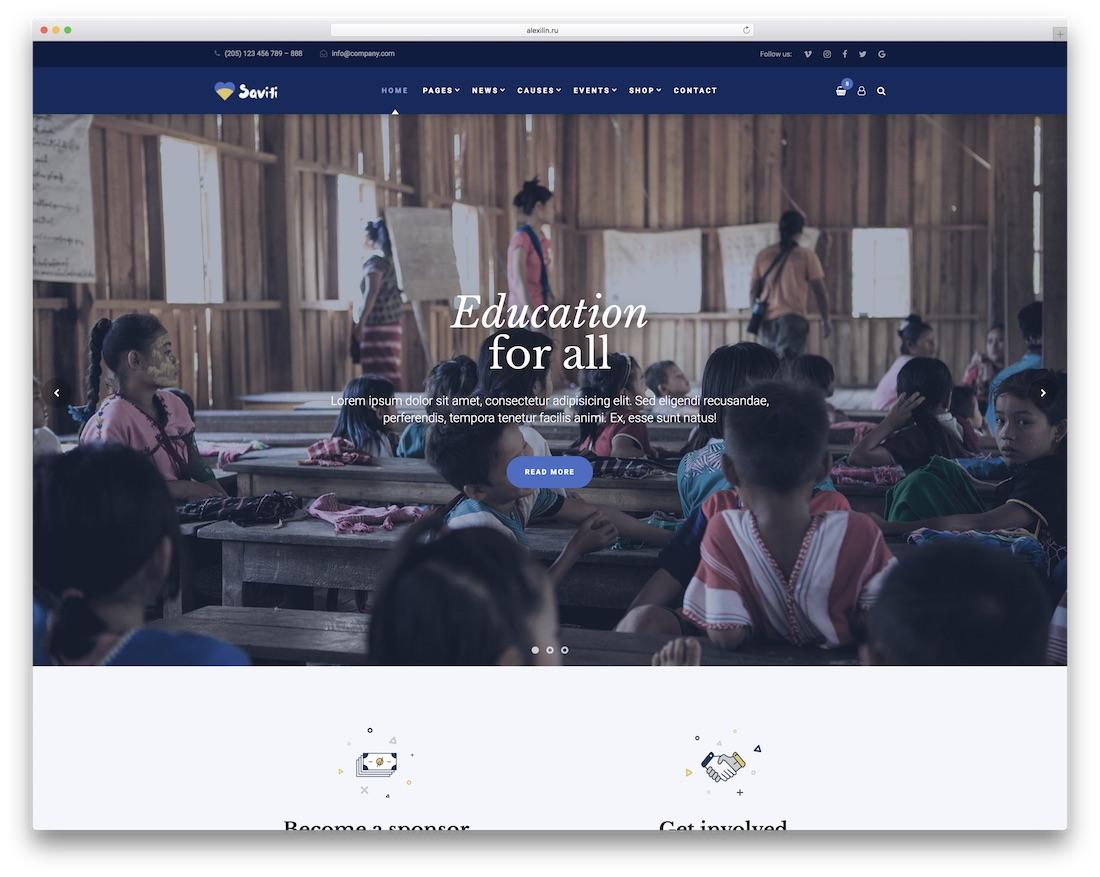 saviti website template