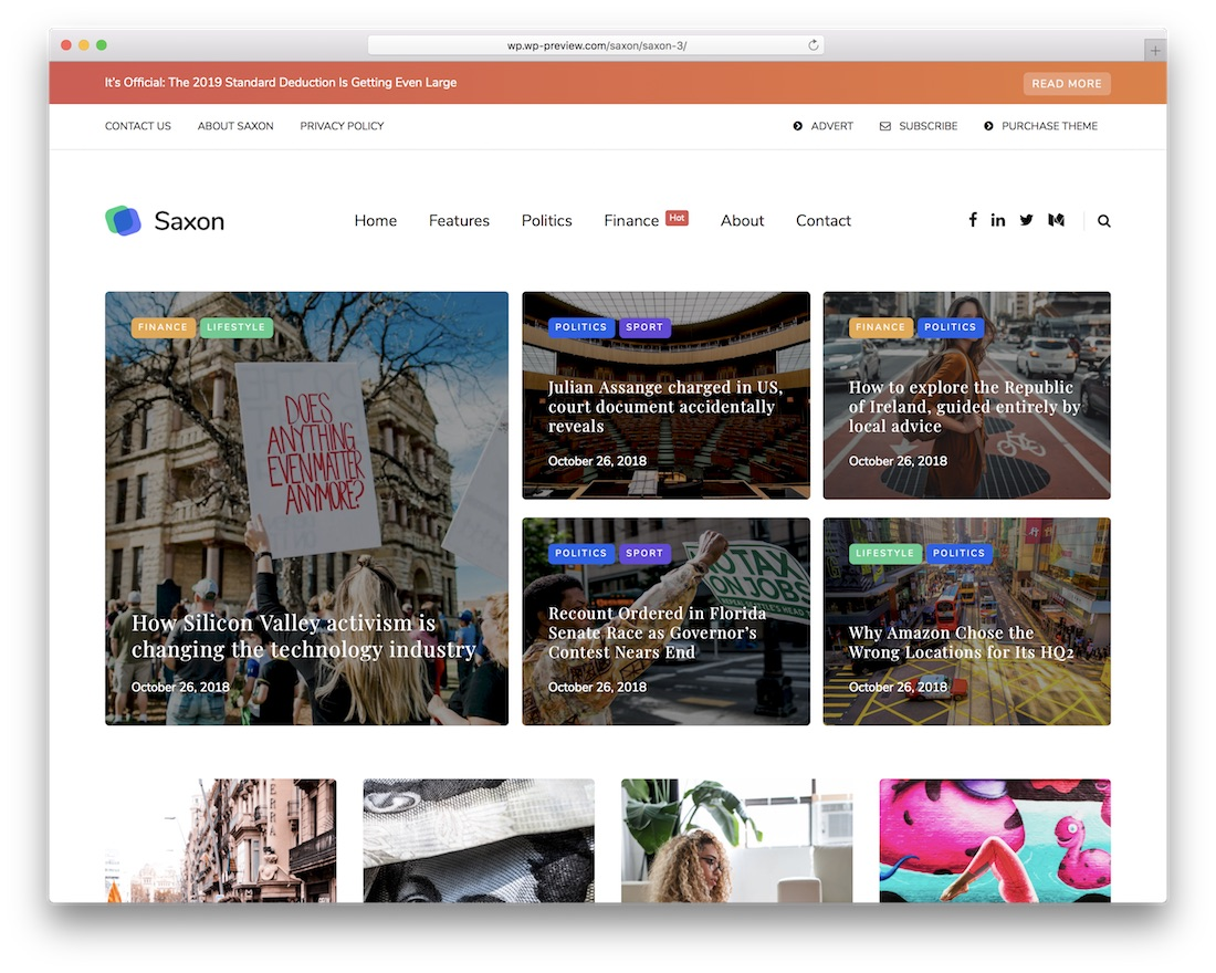 saxon magazine wordpress theme