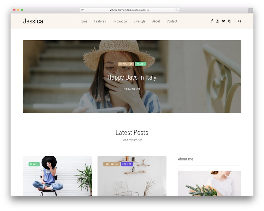 saxon popular wordpress blog theme