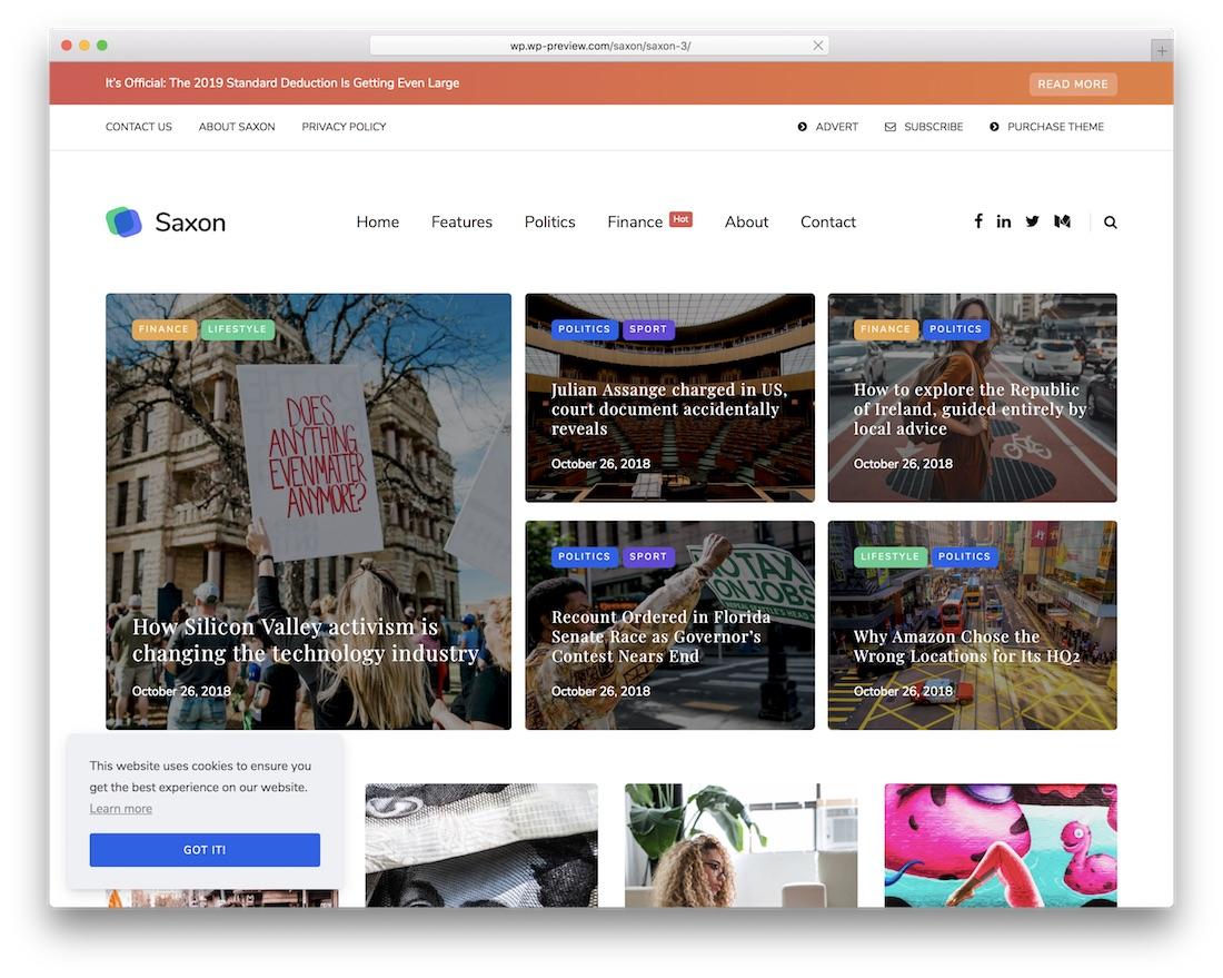 saxon viral news wordpress theme