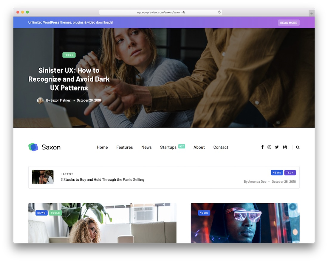 saxon viral wordpress theme