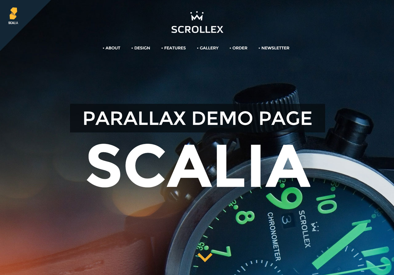 scalia fullscreen business theme